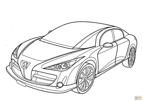 peugeot rc coloring page free printable coloring pages