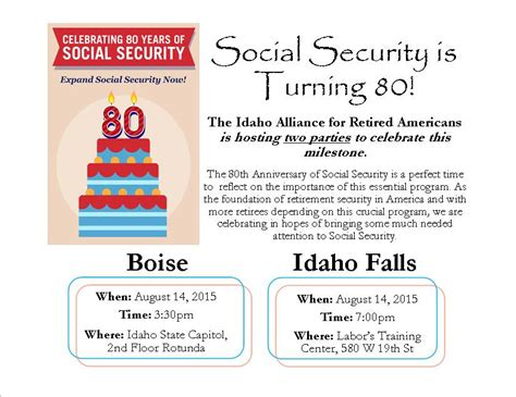 Social Security Office Falls Idaho by Help Wish Social Security A Happy 80th Boise And Idaho