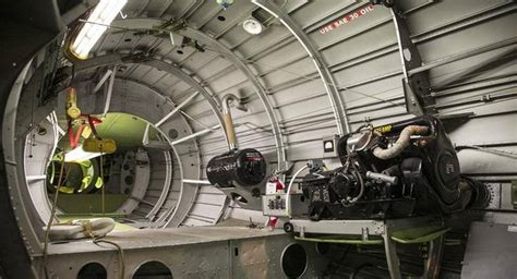 "The auxiliary power unit, right, and fuel tank in ""Doc,"" a ... B 29 Inside"