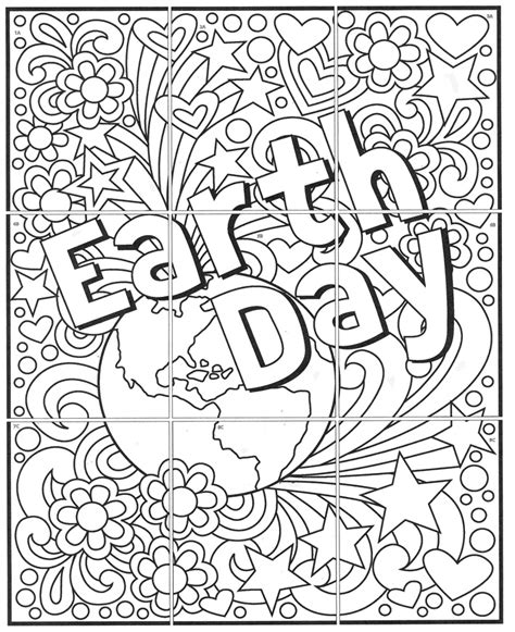 printable art murals free mini earth day mural art projects for kids