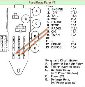 1989 Toyota Camry Fuse Box Diagram 1989 Toyota Pickup Fuse Box Submited Images