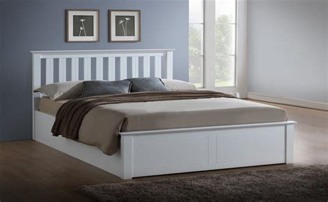 white ottoman bed double phoenix white wooden ottoman bed double only 163 329 99