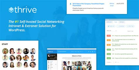 Thrive V2 1 2 Intranet Community Wordpress Theme Blogger Template Free Graphics Free Thrive Themes Templates