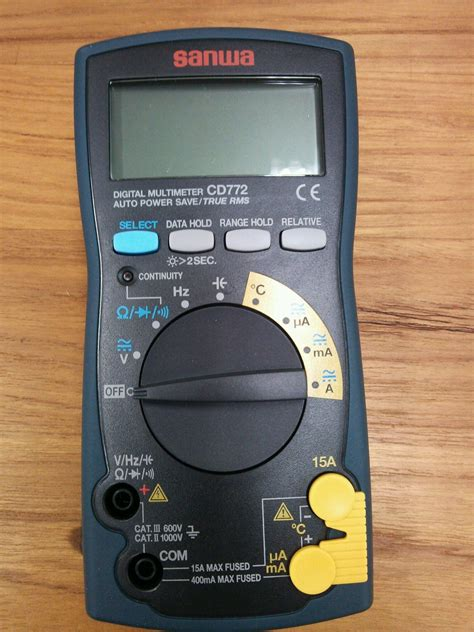Digital Multimeter Sanwa Cd772 digital multimeter sanwa japan cd772 bac jsc