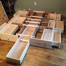 Build Your Own Bed Frame With Drawers Best Storage Bedframe New Pine 7 Drawer Bed Storage Storage Ideas And Storage