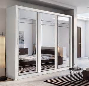 White Sliding Mirror Wardrobe by Brand New Modern Bedroom 3 Sliding Door Mirror Wardrobe