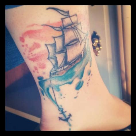 boat anchor tattoos my beautiful watercolour ship ship