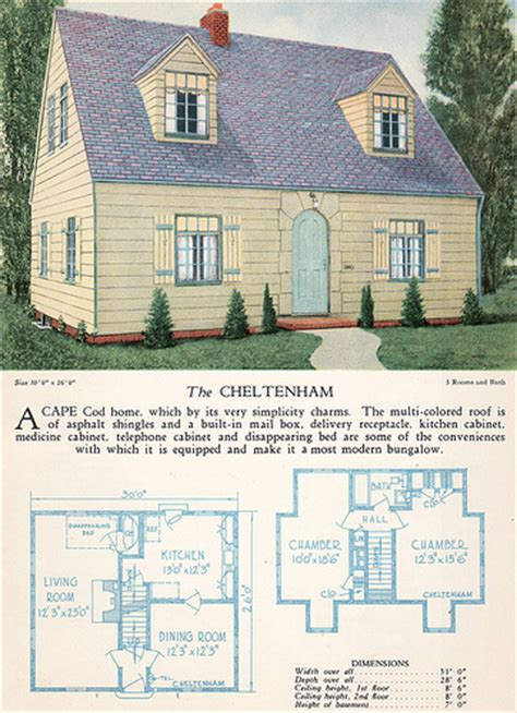 cape cod i a ashley home construction 1928 home builders catalog the cheltenham from the