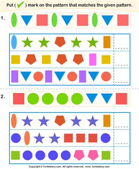 pattern matching generator pre school worksheets 187 pattern matching worksheets free