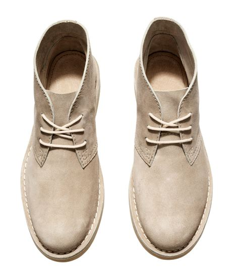 h m suede desert boots in lyst