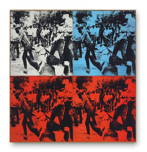 acrylic paint riot andy warhol race riot 1964