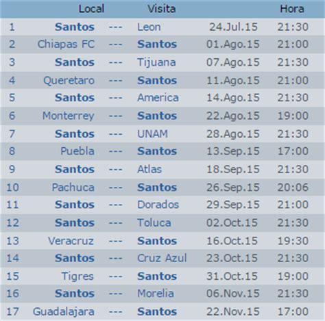 Calendario Mexicano Con Santos Junio 2015 Apuntes De Futbol