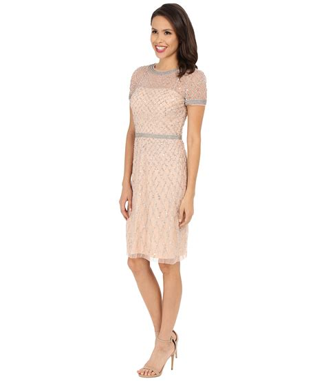 beaded papell dress papell sleeve fully beaded cocktail dress