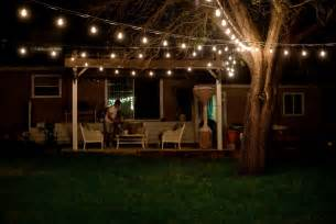 backyard string lights and flowers home design architecture