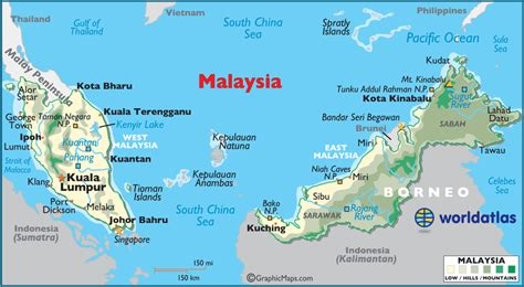 where is malaysia on a world map malaysia large color map