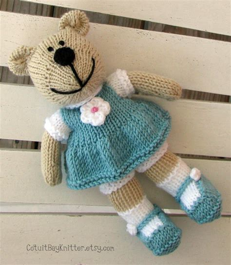 knitting patterns toys animals toddler knit teddy stuffed animal knitted