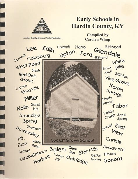 a history of elizabethtown kentucky and its surroundings books early schools in hardin county ancestral trails