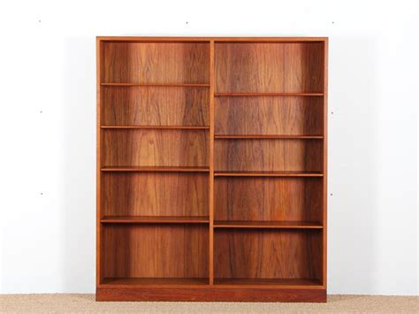 mid century modern scandinavian bookcase in teak by borge