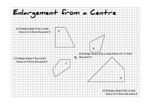maths transformations enlargement worksheet translations
