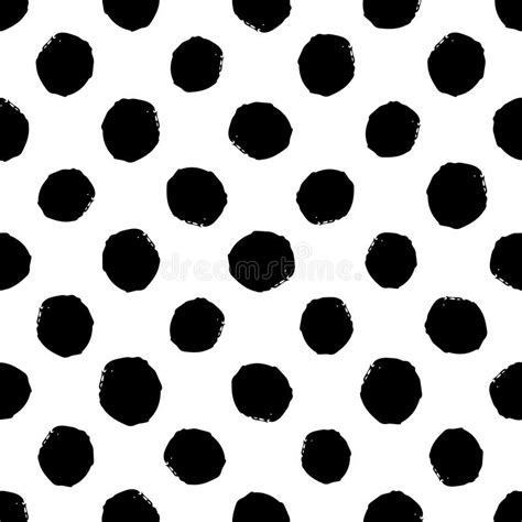 vector pattern rough hand drawn seamless dot pattern dry brush and rough edges