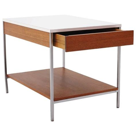George Nelson Table L by George Nelson For Herman Miller End Table White