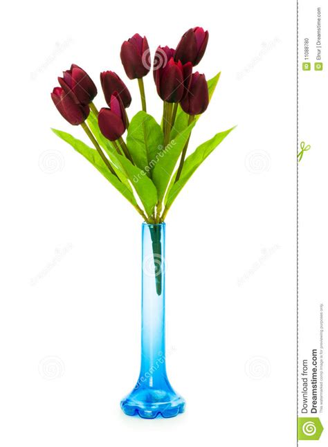Vase With Tulips by Vase With Tulips Isolated Stock Photo Image 11088780