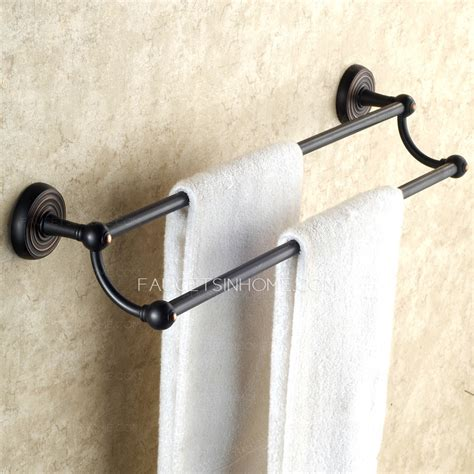 oil rubbed bronze towel bars for bathrooms vintage oil rubbed bronze black double towel bars for bathroom