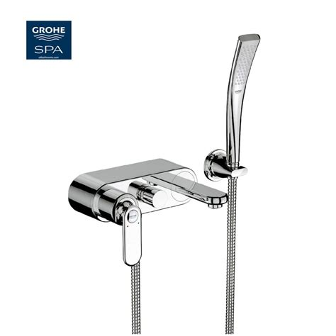 grohe bath shower mixer grohe veris wall mounted exposed bath shower mixer uk