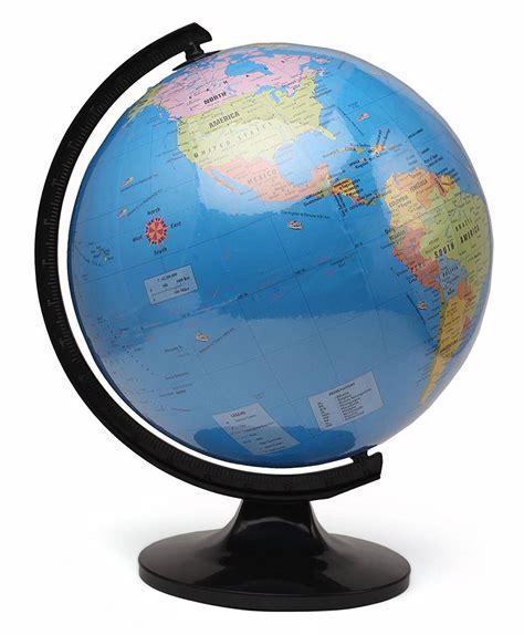 world globe home decor laminated political globe 20 cms educational world