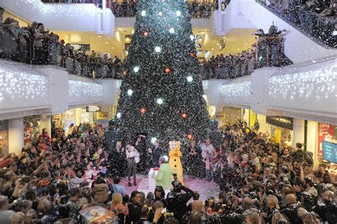 belfry shopping centre christmas lights switch on get surrey