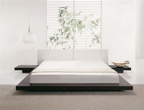 Japanese Style Bed Frames Beliani Wooden Bed Japan Style King Size With Side Tables Zen Eng