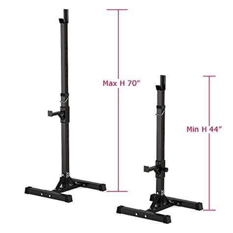 portable bench press set dqs pair of adjustable squat rack barbell stands free