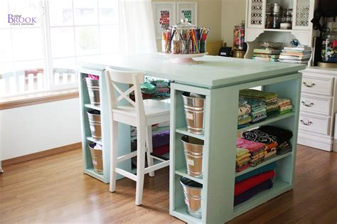 Ana White   Modern Craft Table Aqua   DIY Projects