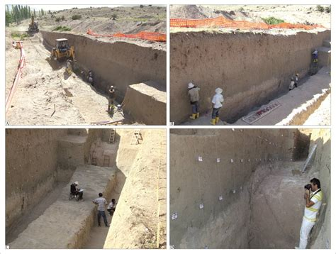 excavation benching paleoseismological three dimensional virtual photography