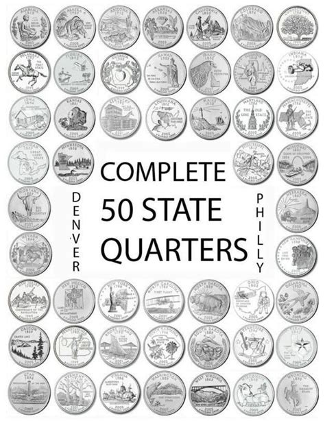 printable quarter collector 1999 2008 us state quarters complete uncirculated set quot p