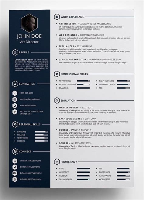 Creative Resume Layouts 25 best ideas about cv template on layout cv