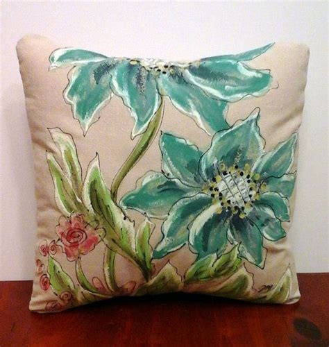 entryway bench cushion cover entry bench pillow turquoise watercolor pillow