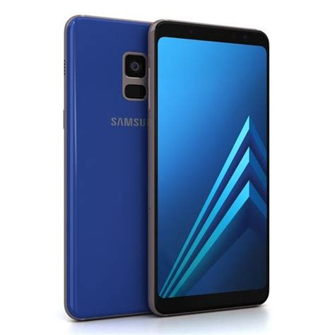 Samsung Galaxy A8 Blue 3d asset samsung galaxy a8 2018 blue cgtrader