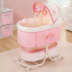 Infant Baby Bed Rocking Crib Nursery Portable Canopy Bassinet Furniture