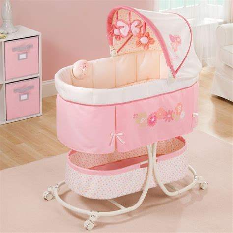 baby bassinet for bed rocking crib nursery portable canopy bassinet furniture