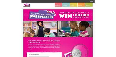 Box Tops Big Money Sweepstakes - btfe com bigmoney box tops for education big money sweepstakes