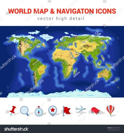 world river map vector world map high detail vector navigation icon set america