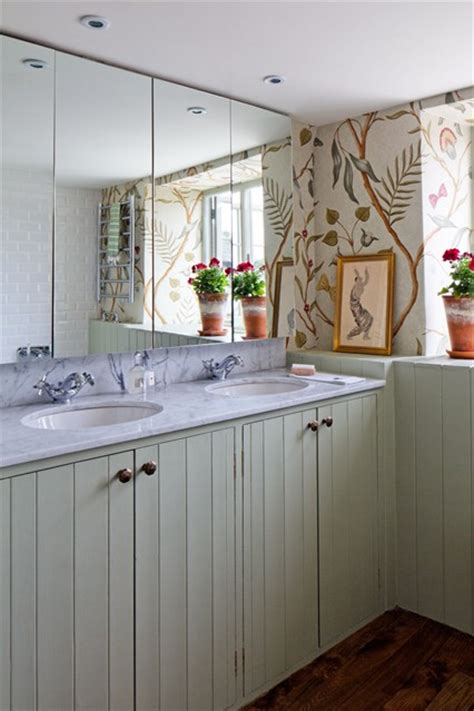 tongue and groove bathroom ideas floral wallpaper tongue groove small bathroom design