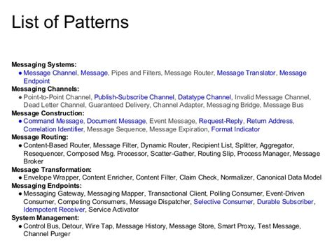 pattern java list implementing messaging patterns in javascript using the