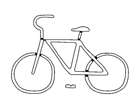 imagenes de bicicletas faciles para dibujar desenho de bicicleta b 225 sico para colorir colorir com