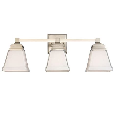 Hton Bay 4 Light Brushed Nickel Bath Light 05382 The Home Depot Hton Bay Landray 3 Light Brushed Nickel Vanity Light Hjc1393a 3 The Home Depot