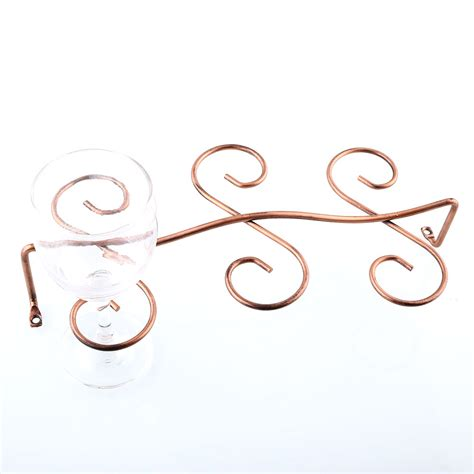 wine glass hangers cabinet 6 wine glass rack stemware cabinet holder hanger bar