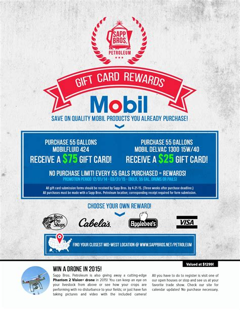 Rewards For Gift Cards - sapp bros mobil gift card flyer