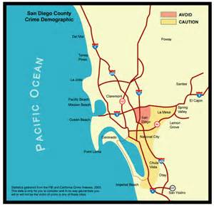 San Diego Crime Map by California Crime Statistics