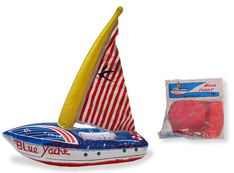 toy inflatable boat vintage antique toy inflatable yacht boat